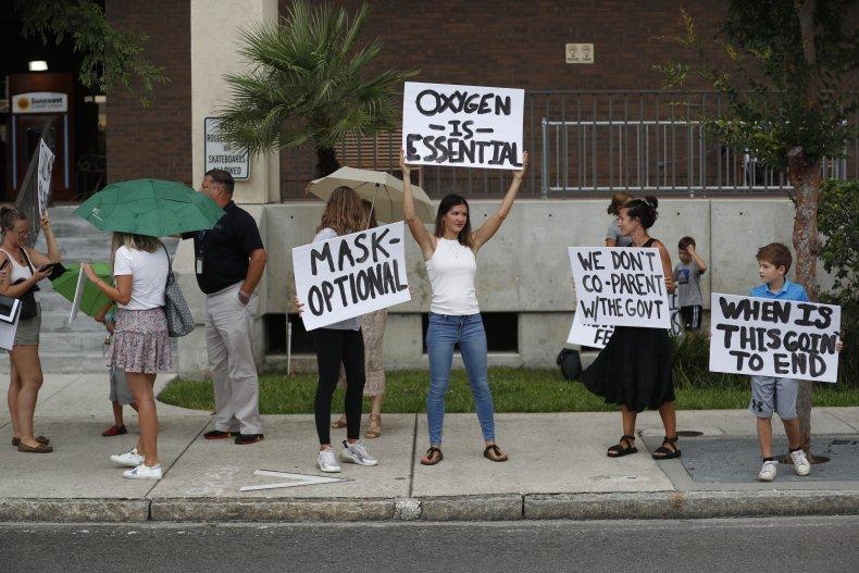 Parents Protest Mask Mandates