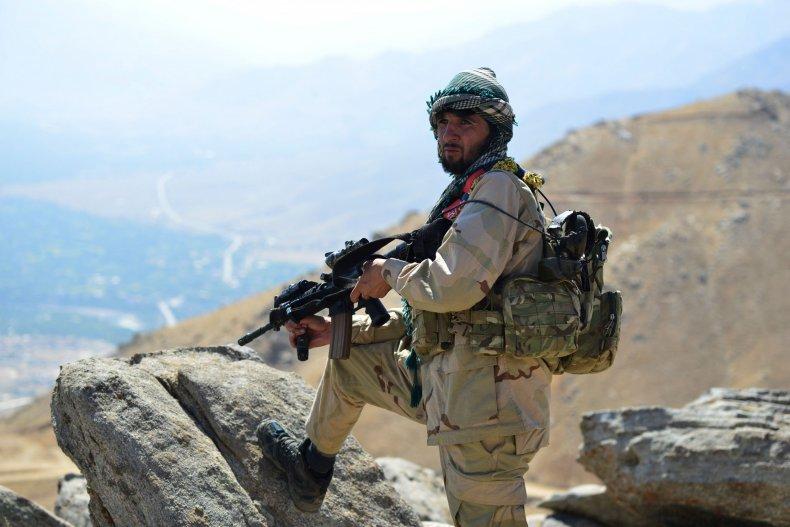Anti, Taliban, fighters, resistance, Panjshir, Afghanistan