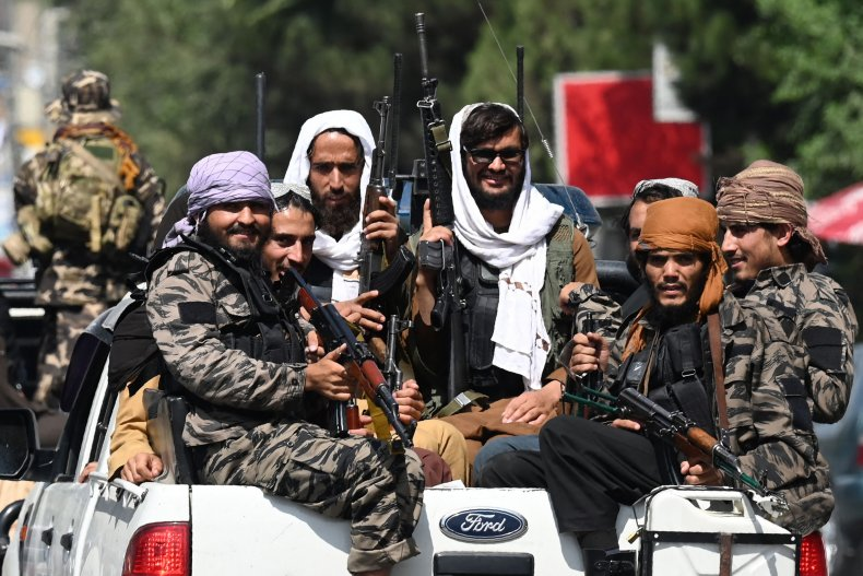 Taliban Fighters Patrol Kabul