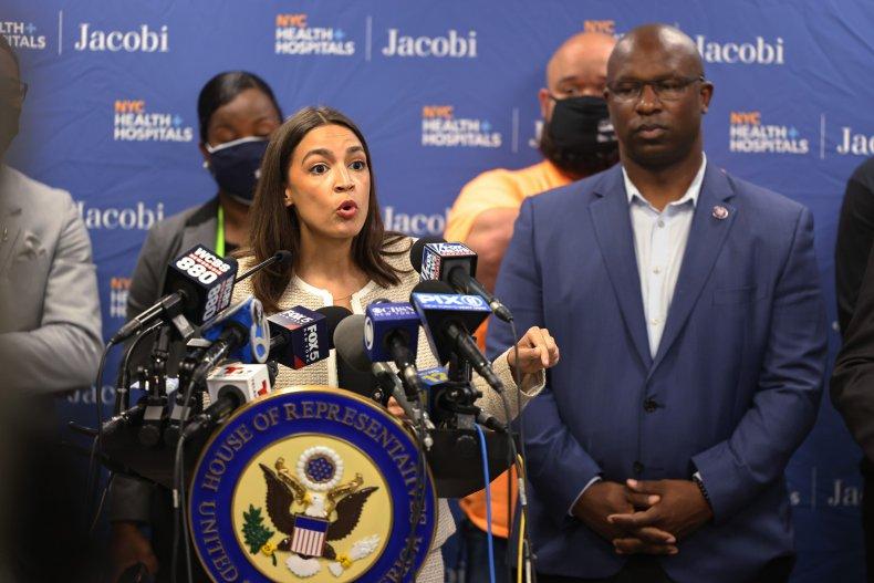 Ocasio-Cortez Jamaal Bowman progressive unemployment benefits revive