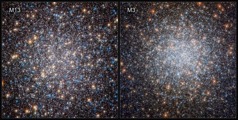 Globular clusters M13 and M3