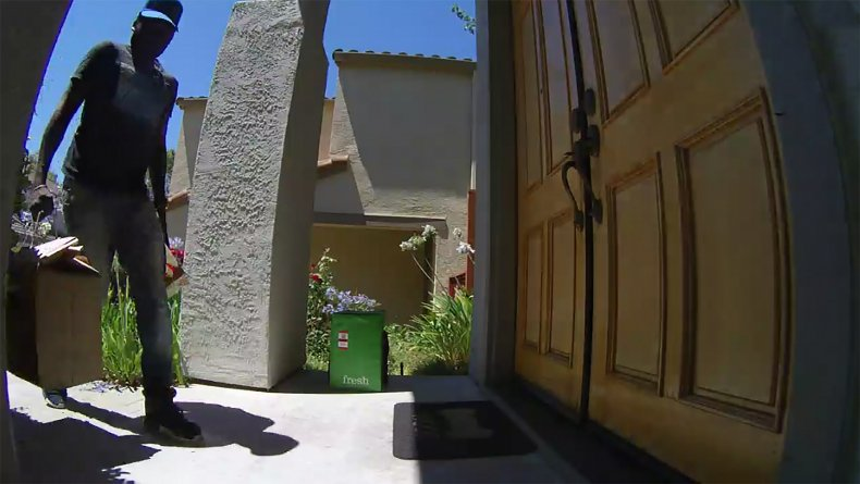 Amazon delivery driver dropping off food