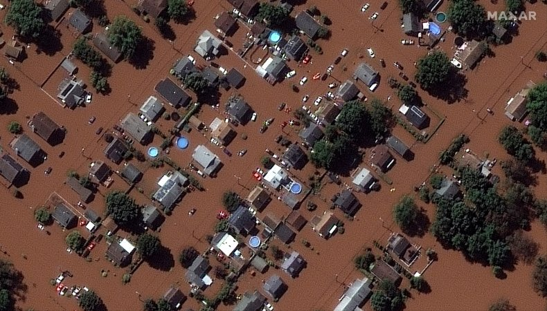 Aerial shot of flooding in New Jersey.