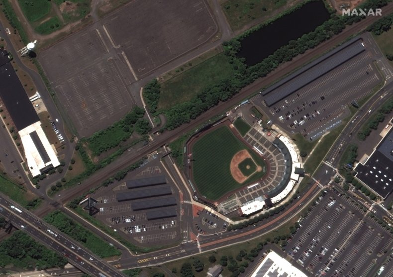 Aerial shot of New Jersey.