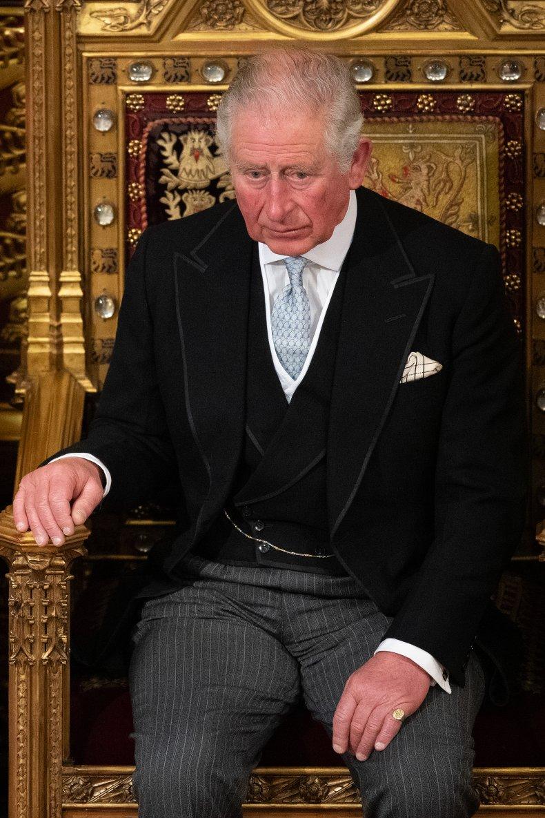 Prince Charles on Throne