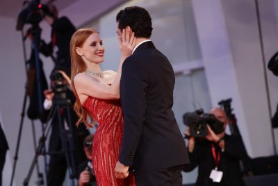 Jessica Chastain and Oscar Isaac in Venice