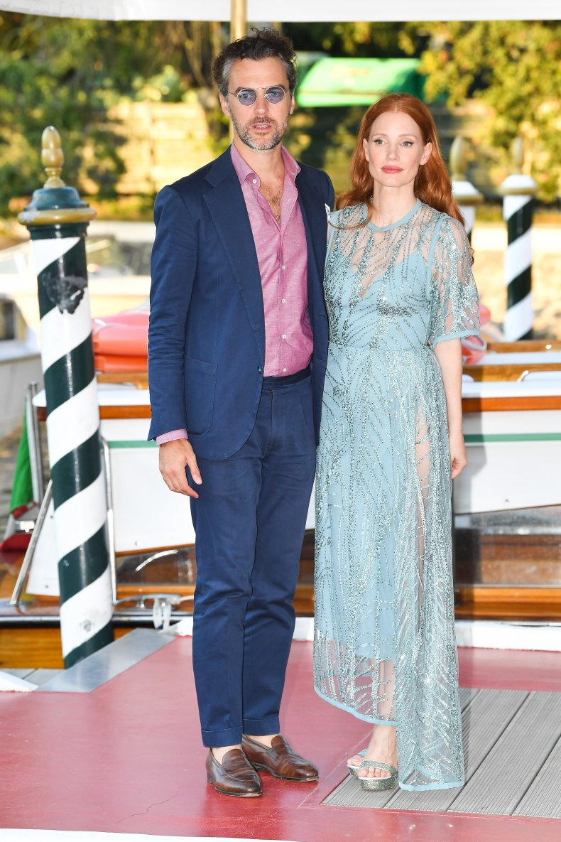 Gian Luca and wife Jessica Chastain