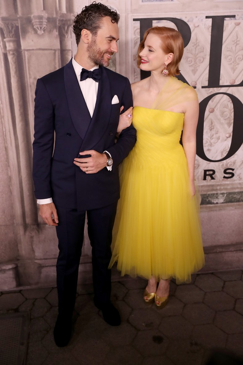 Jessica Chastain and husband attend fashion show