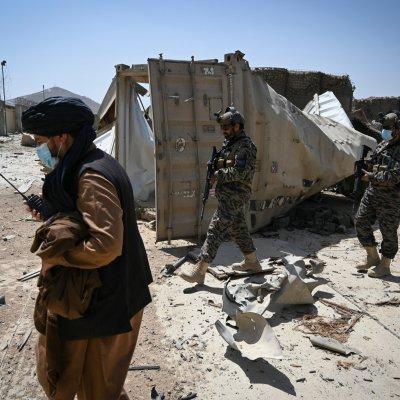 Elite Taliban units search destroyed CIA base