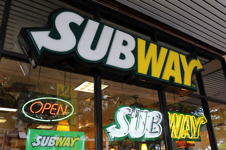 Exterior shot of a Subway store.