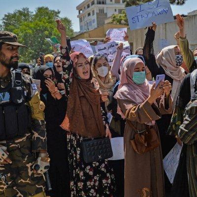 Afghan women protest against Pakistan