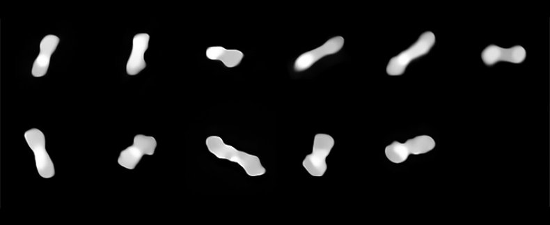 The Asteroid Kleopatra From Various Angles