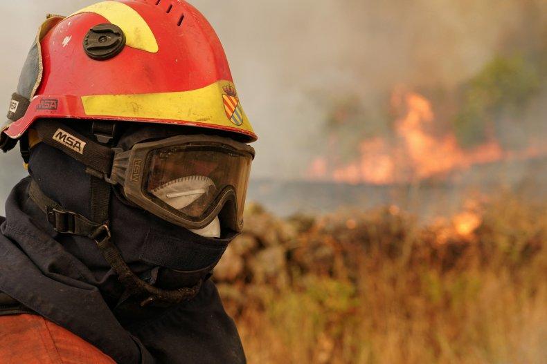 Firefighter in Spain