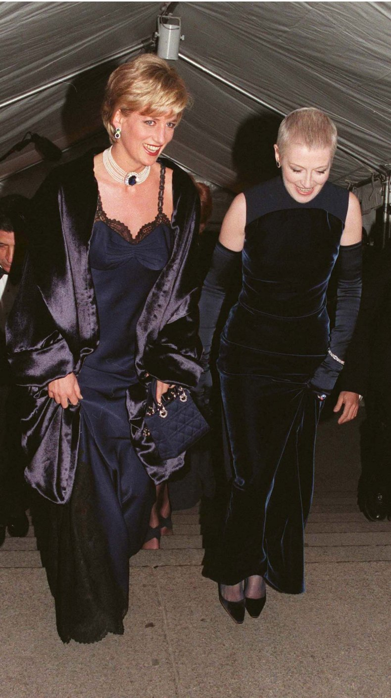 Princess Diana attends the Met Gala