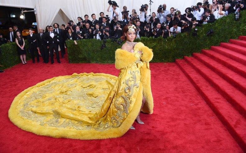 Rihanna attends the 2015 Met Gala