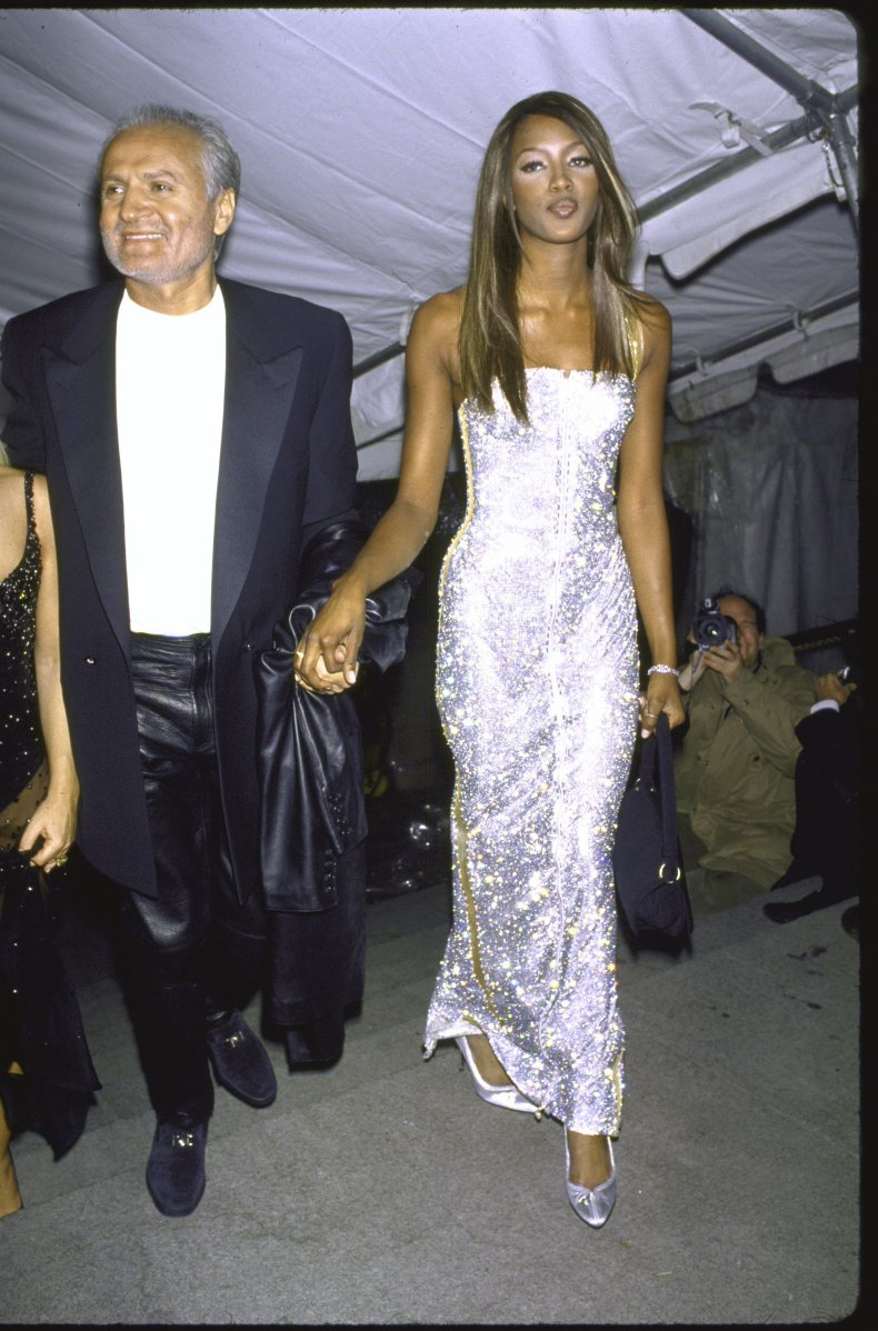Gianni Versace and Naomi Campbell