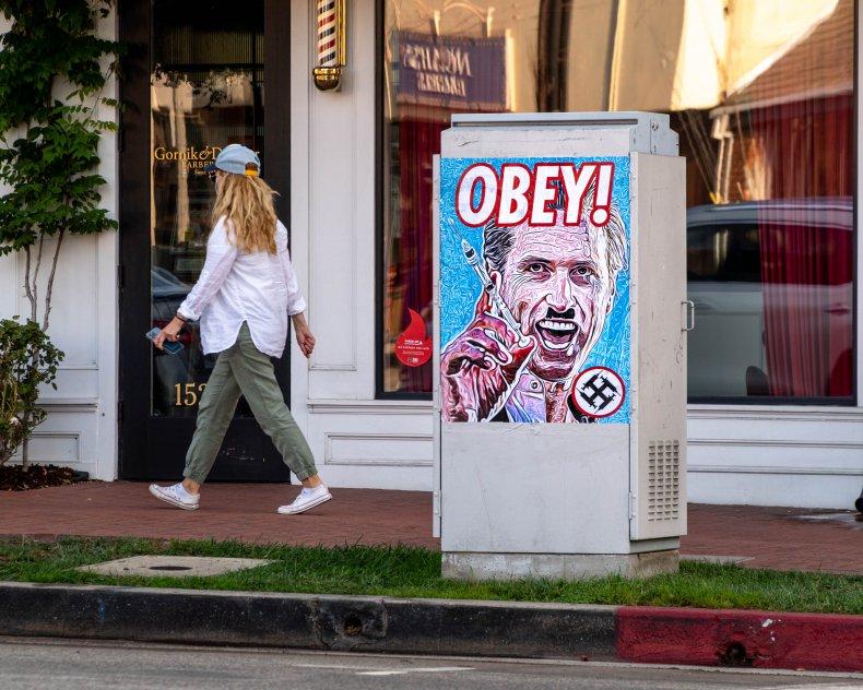Anti-Gavin Newsom Street Art