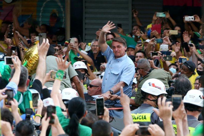 Bolsanaro at rally in Sao Paulo