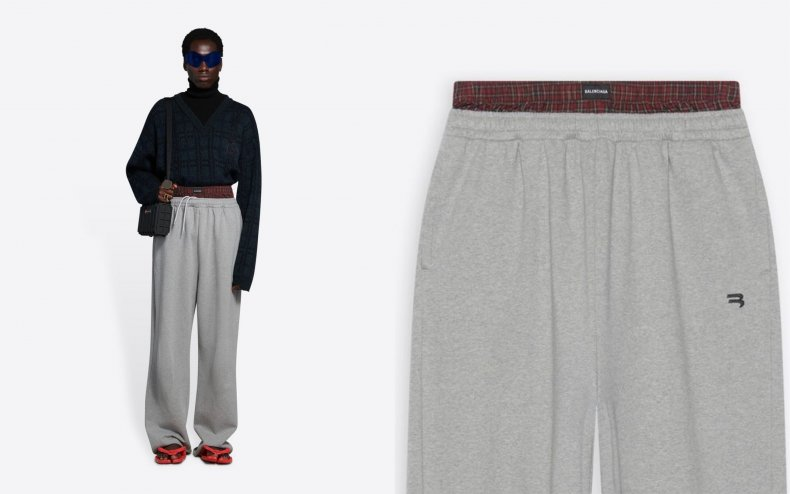 A pair of Balenciaga sweatpants.