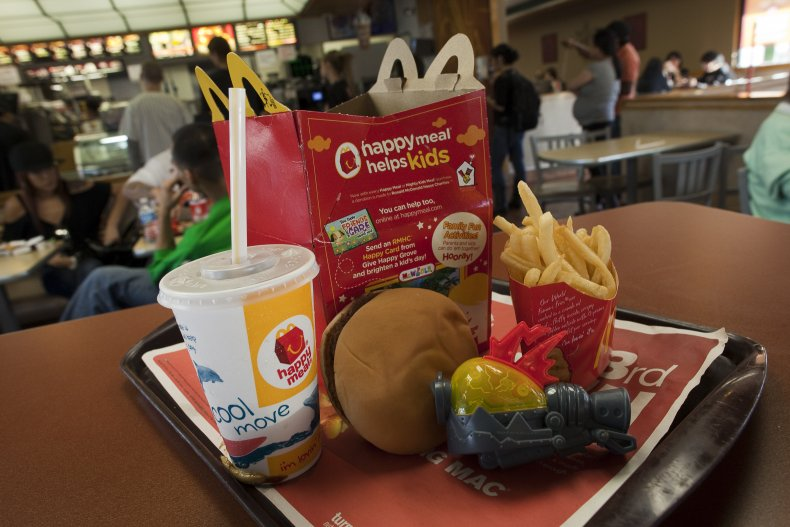 A McDonald's Happy Meal Pictured in California