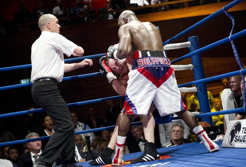 The Holyfield vs. Nielsen match in 2011.