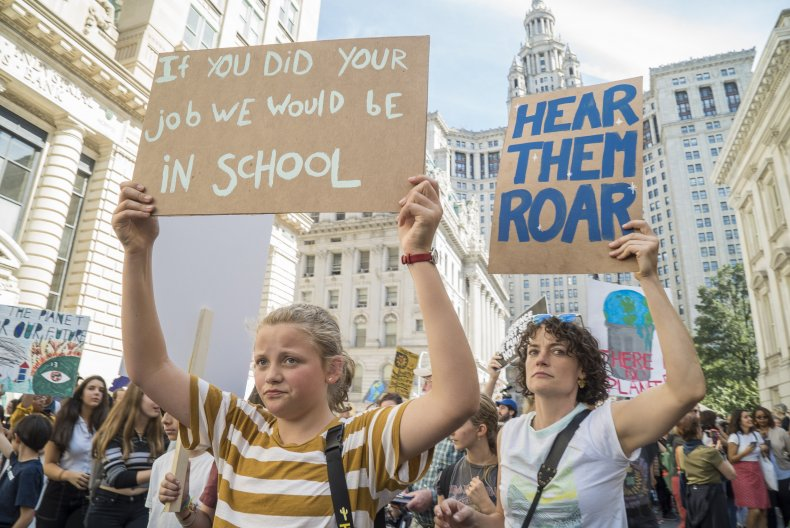 Students in New York demonstrating