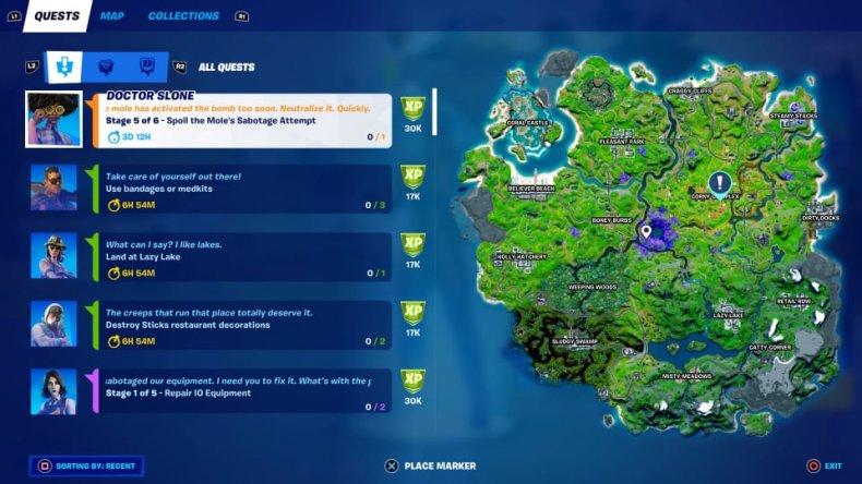 Fortnite Mole's Sabotage Quest
