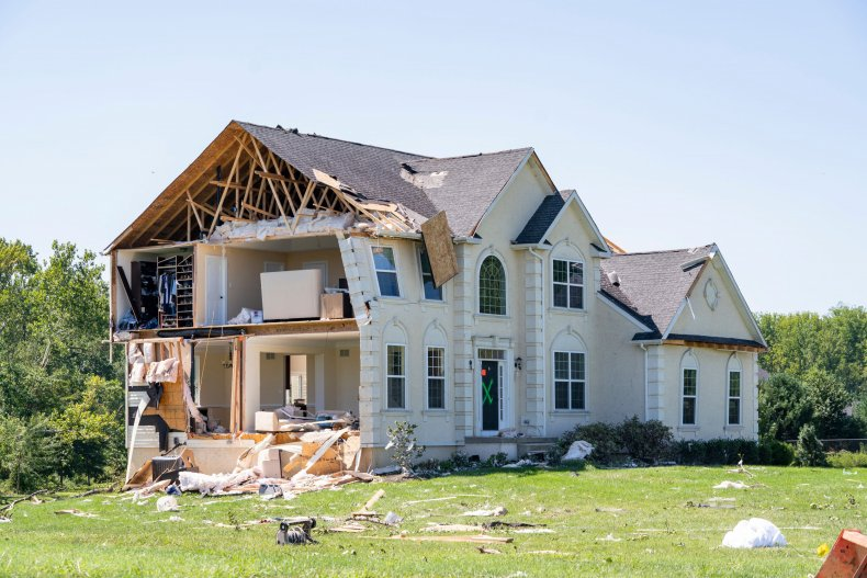 Home destroyed by Ida in New Jersey.