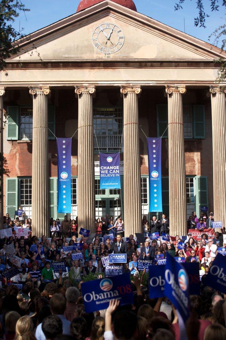 Obama rally at College of Charleston
