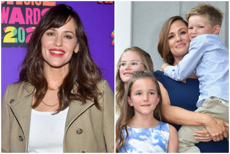 Jennifer Garner and her three children