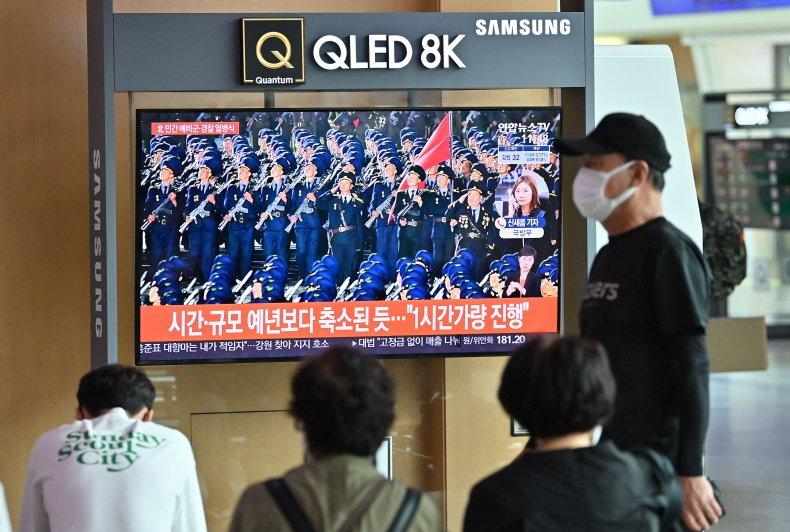 North Korea Parade Broadcast