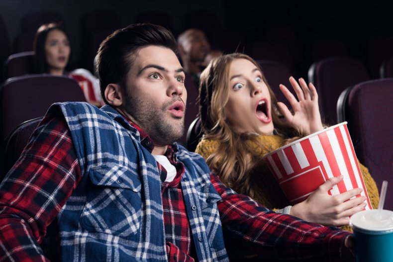 File photo of people in the cinema.