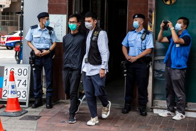 Hong Kong Police Arrest Tiananmen Vigil Organizers