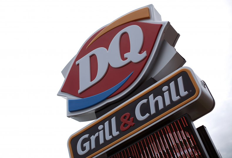 Dairy Queen logo on sign