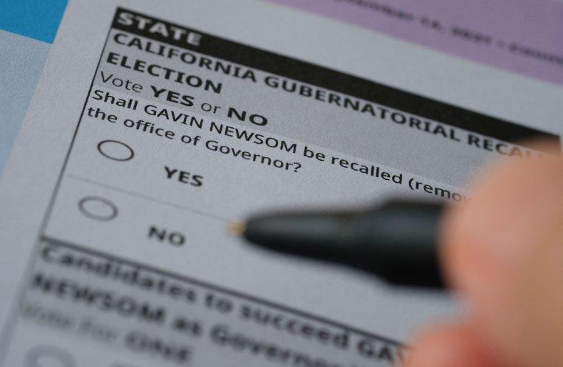 California recall ballot questions