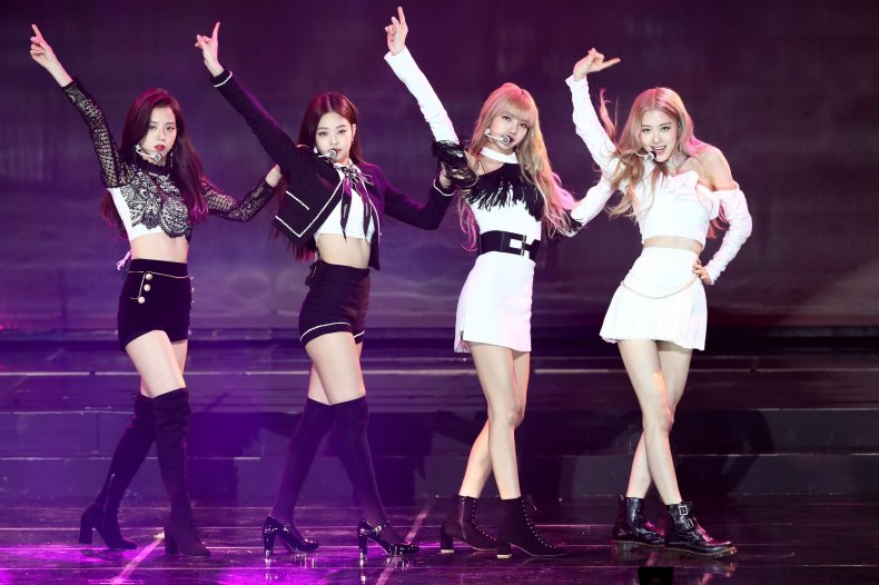 Blackpink performing in South Korea in 2019.