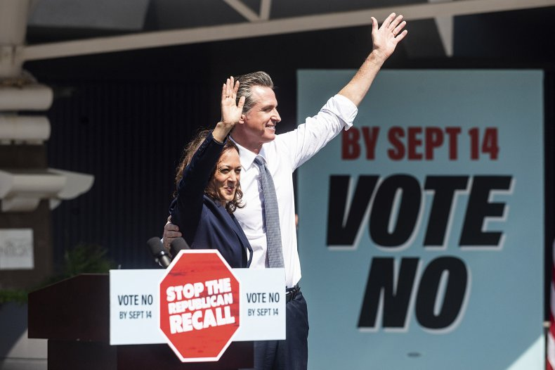 Harris Campaigns with Newsom