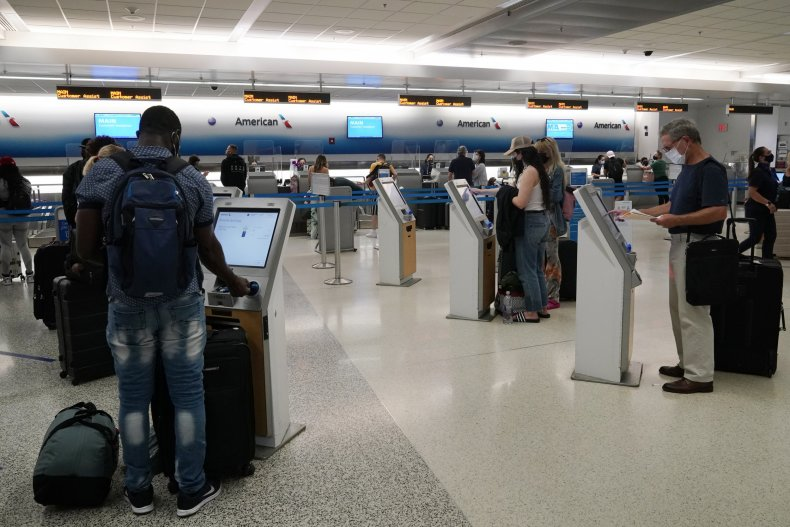 Travelers Check In for Flights