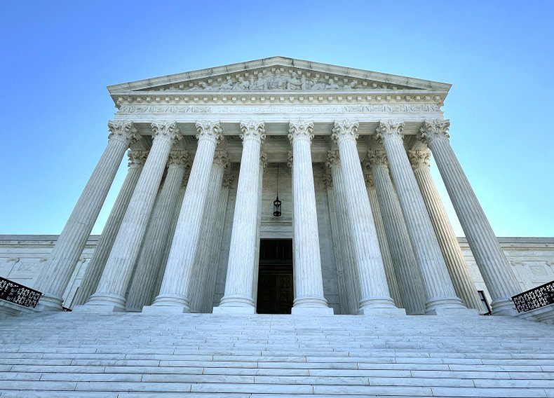 The U.S. Supreme Court is seen on
