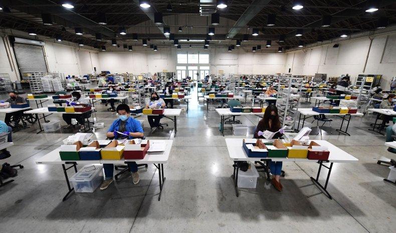 California recall election ballot count