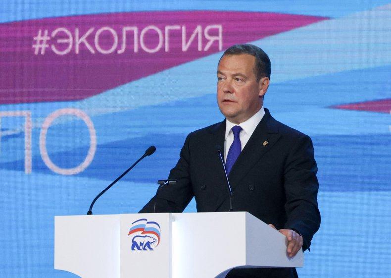 Ex-Russian president Dmitry Medvedev