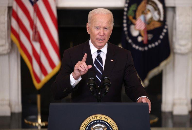 U.S. President Joe Biden speaks about combating