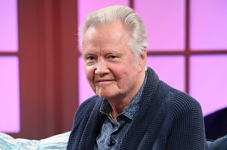 """Jon Voight sits during filming for """"Candace."""""""