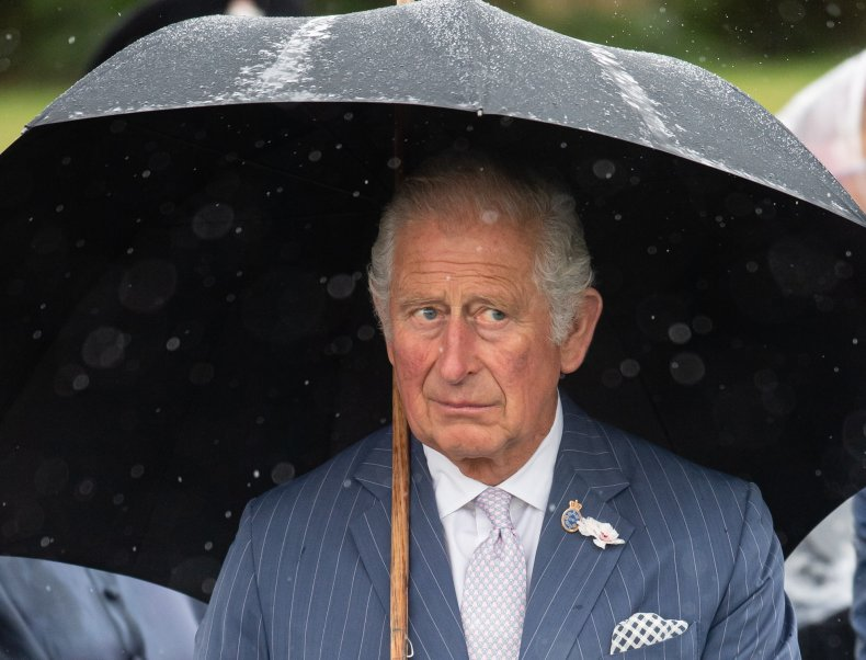 Prince Charles With Umbrella