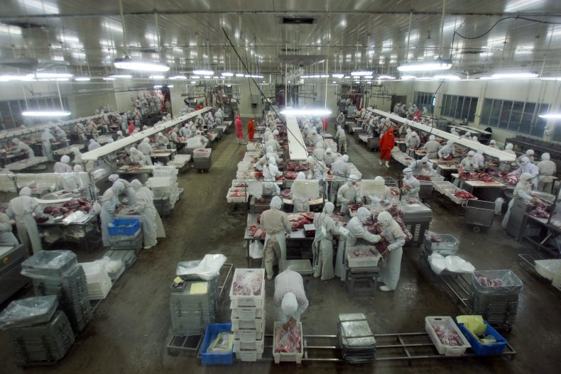 beef processing factory