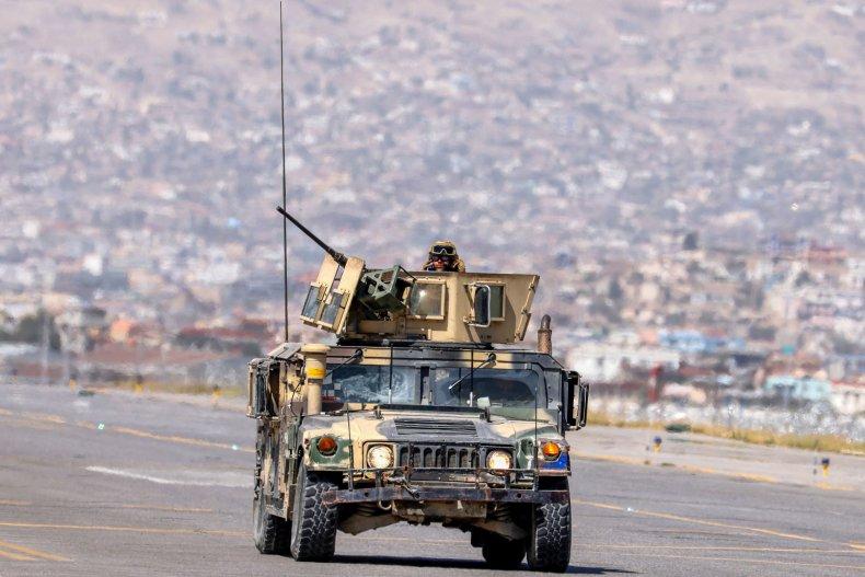 Taliban Fighters Patrol