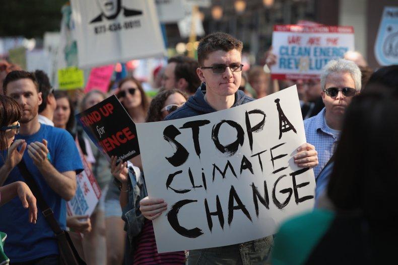 Paris Climate Agreement Protestors