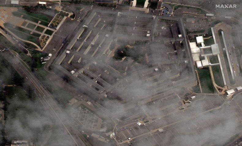 Aerial shot of the Pentagon in 2021.