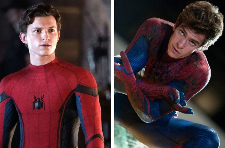 Tom Holland and Andrew Garfield