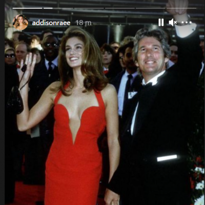 Addison Raes Instagram story of Cindy Crawford
